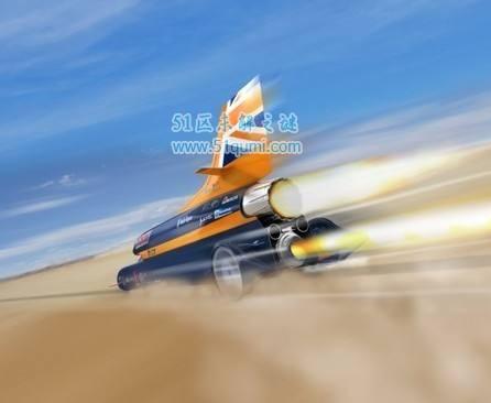 世界上最快的车超音速推进号 最高时速可达1227.99公里